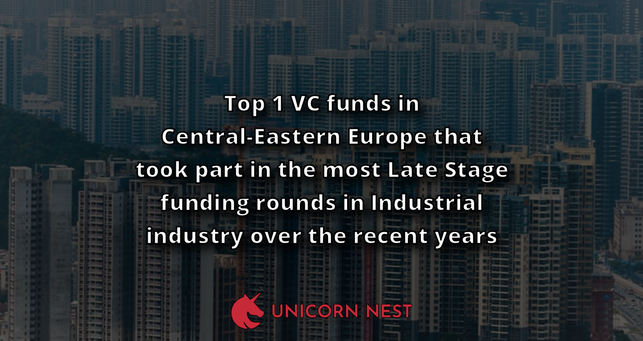Top 1 VC funds in Central-Eastern Europe that took part in the most Late Stage funding rounds in Industrial industry over the recent years