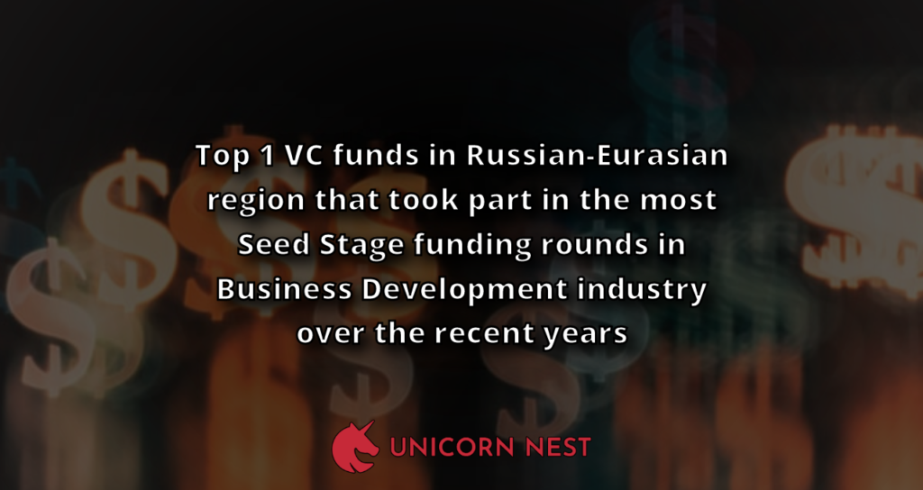 Top 1 VC funds in Russian-Eurasian region that took part in the most Seed Stage funding rounds in Business Development industry over the recent years