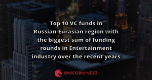 Top 10 VC funds in Russian-Eurasian region with the biggest sum of funding rounds in Entertainment industry over the recent years