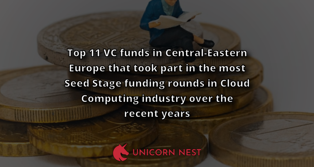 Top 11 VC funds in Central-Eastern Europe that took part in the most Seed Stage funding rounds in Cloud Computing industry over the recent years