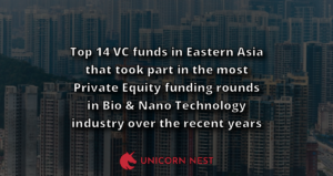 Top 14 VC funds in Eastern Asia that took part in the most Private Equity funding rounds in Bio & Nano Technology industry over the recent years