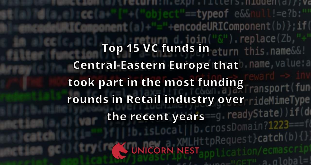 Top 15 VC funds in Central-Eastern Europe that took part in the most funding rounds in Retail industry over the recent years