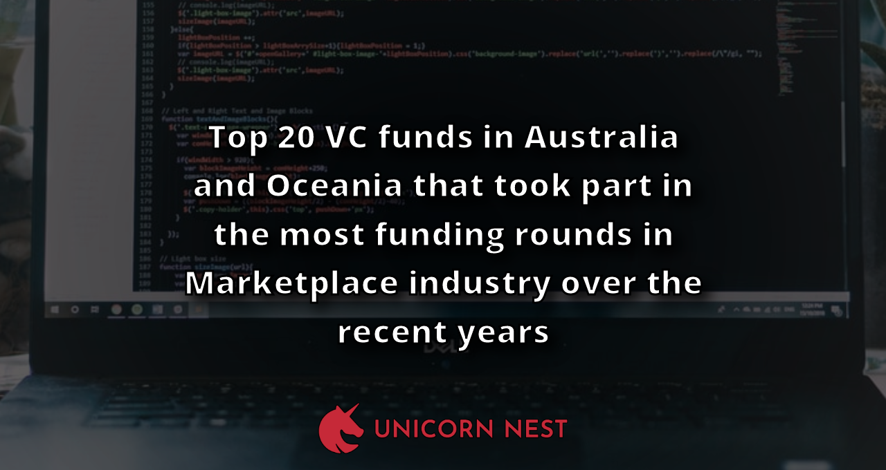 Top 20 VC funds in Australia and Oceania that took part in the most funding rounds in Marketplace industry over the recent years