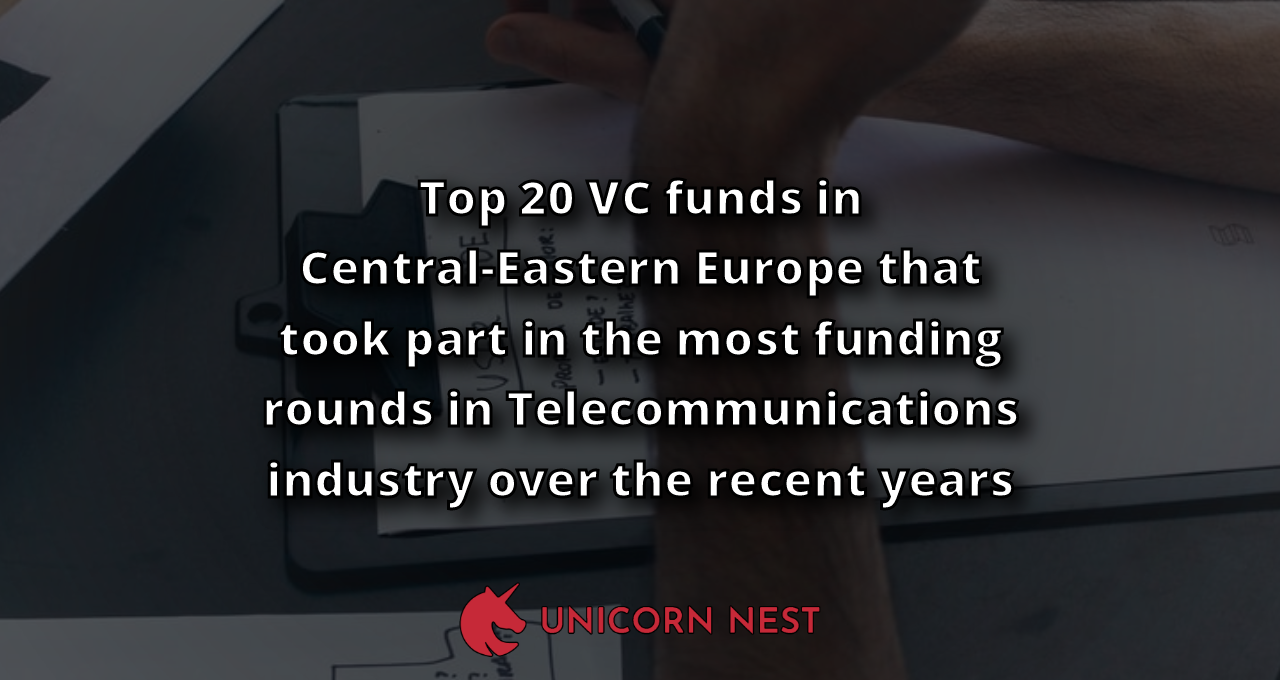Top 20 VC funds in Central-Eastern Europe that took part in the most funding rounds in Telecommunications industry over the recent years