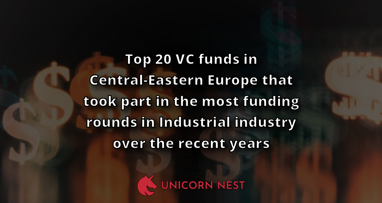 Top 20 VC funds in Central-Eastern Europe that took part in the most funding rounds in Industrial industry over the recent years