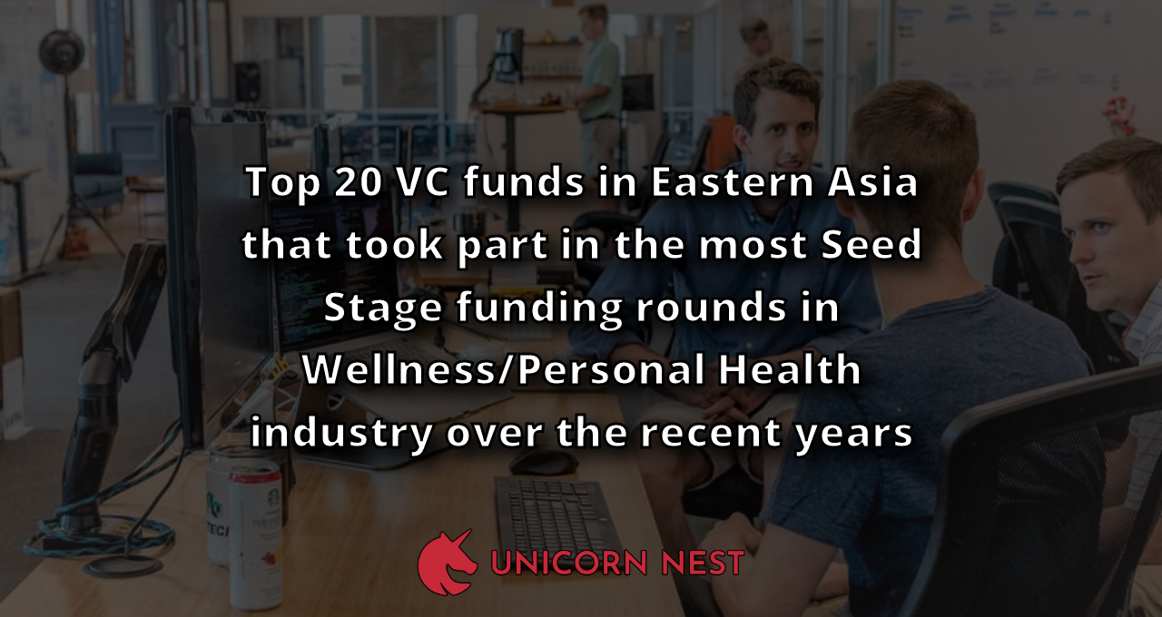 Top 20 VC funds in Eastern Asia that took part in the most Seed Stage funding rounds in Wellness/Personal Health industry over the recent years
