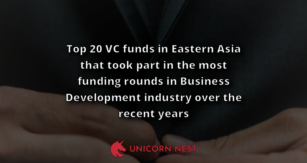 Top 20 VC funds in Eastern Asia that took part in the most funding rounds in Business Development industry over the recent years