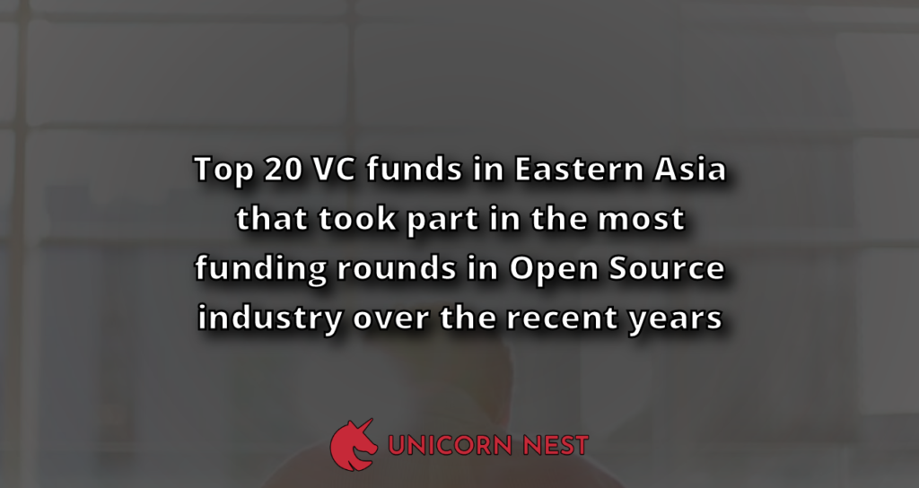 Top 20 VC funds in Eastern Asia that took part in the most funding rounds in Open Source industry over the recent years