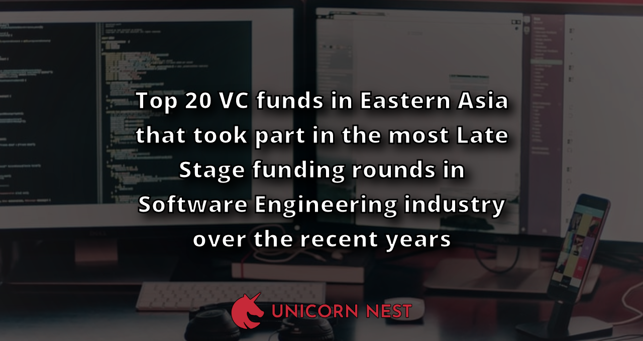 Top 20 VC funds in Eastern Asia that took part in the most Late Stage funding rounds in Software Engineering industry over the recent years
