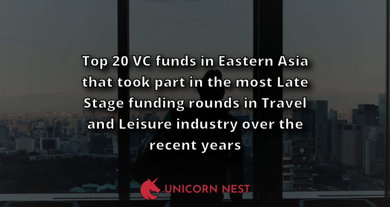 Top 20 VC funds in Eastern Asia that took part in the most Late Stage funding rounds in Travel and Leisure industry over the recent years