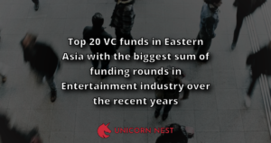 Top 20 VC funds in Eastern Asia with the biggest sum of funding rounds in Entertainment industry over the recent years
