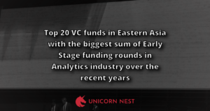 Top 20 VC funds in Eastern Asia with the biggest sum of Early Stage funding rounds in Analytics industry over the recent years