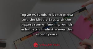 Top 20 VC funds in North Africa and the Middle East with the biggest sum of funding rounds in Industrial industry over the recent years