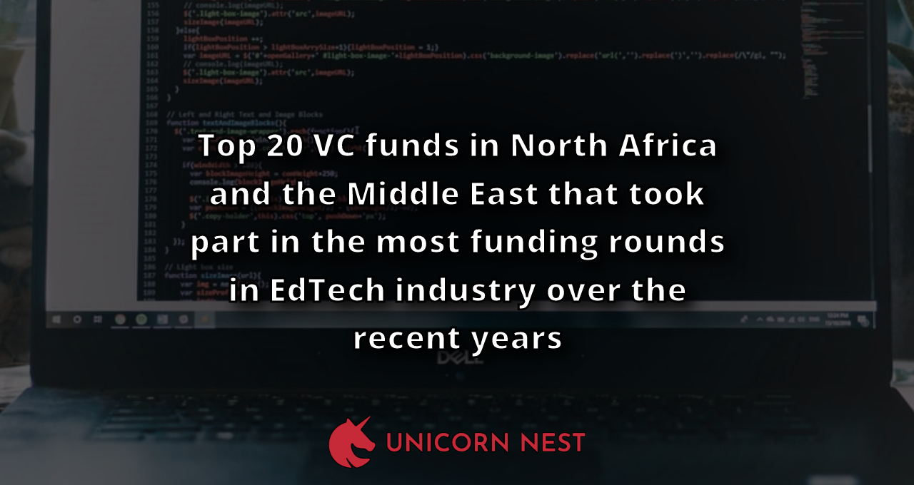 Top 20 VC funds in North Africa and the Middle East that took part in the most funding rounds in EdTech industry over the recent years