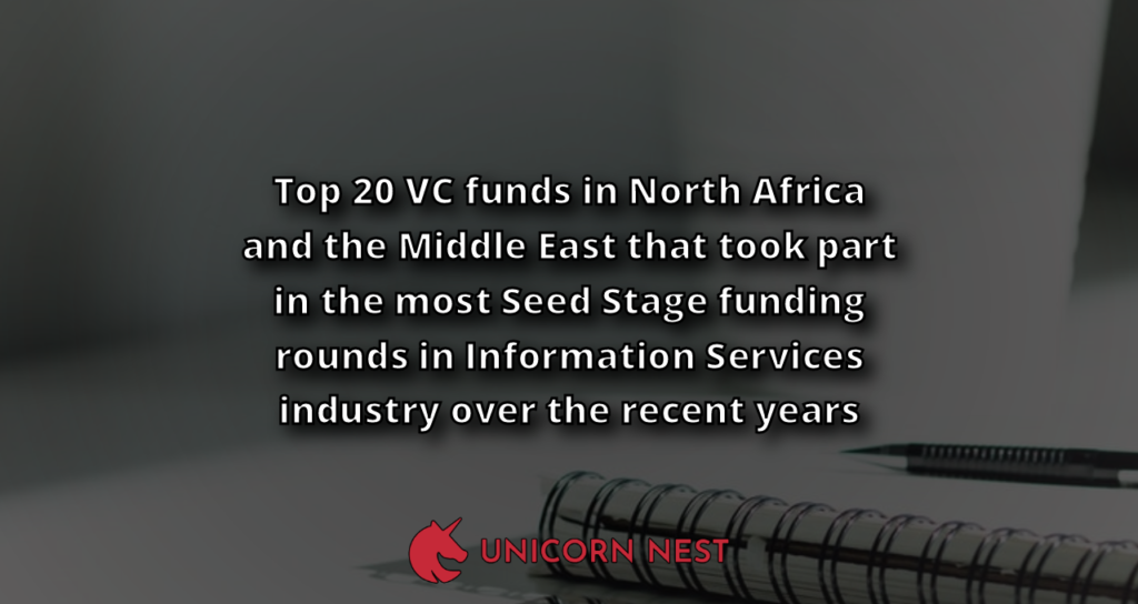 Top 20 VC funds in North Africa and the Middle East that took part in the most Seed Stage funding rounds in Information Services industry over the recent years
