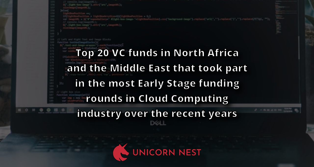 Top 20 VC funds in North Africa and the Middle East that took part in the most Early Stage funding rounds in Cloud Computing industry over the recent years