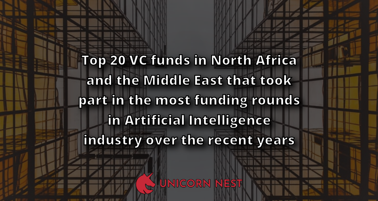 Top 20 VC funds in North Africa and the Middle East that took part in the most funding rounds in Artificial Intelligence industry over the recent years