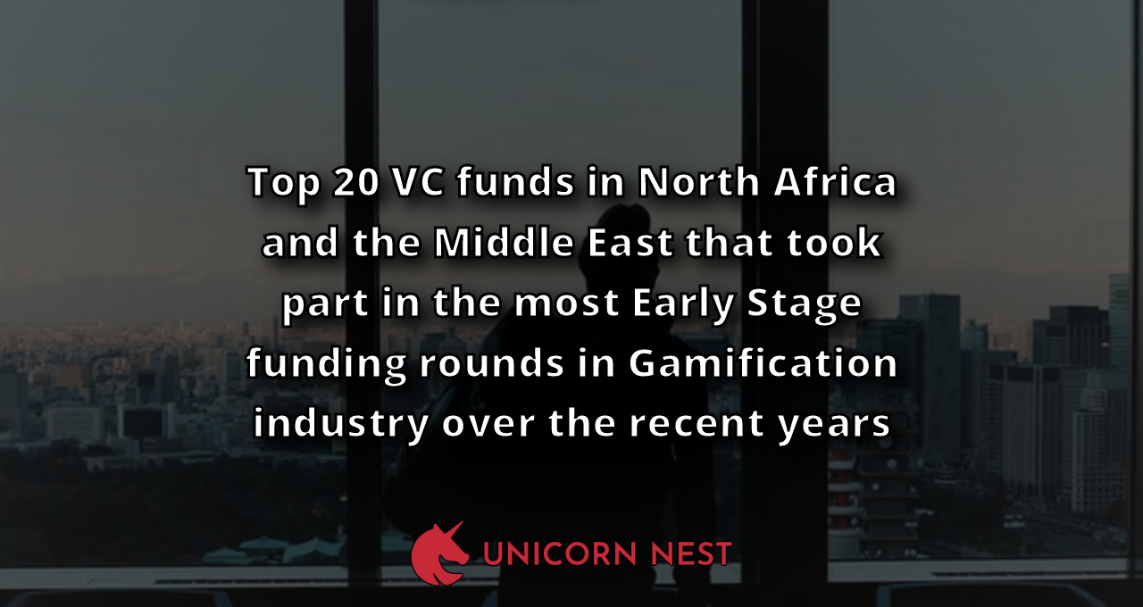Top 20 VC funds in North Africa and the Middle East that took part in the most Early Stage funding rounds in Gamification industry over the recent years