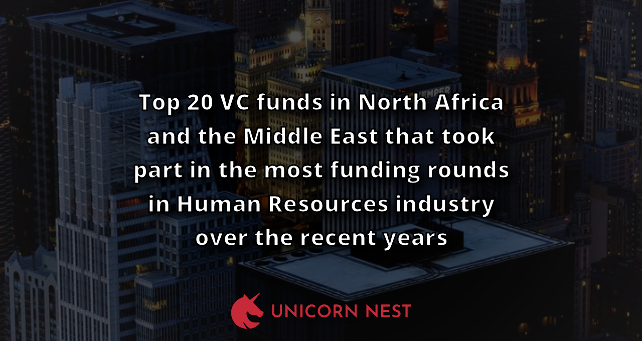 Top 20 VC funds in North Africa and the Middle East that took part in the most funding rounds in Human Resources industry over the recent years