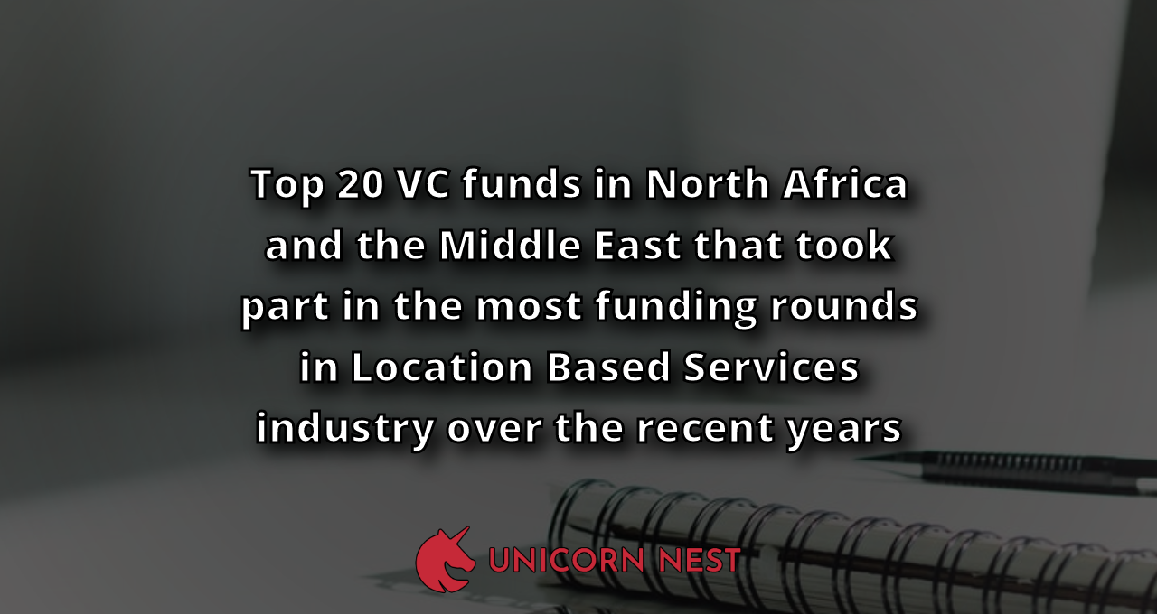 Top 20 VC funds in North Africa and the Middle East that took part in the most funding rounds in Location Based Services industry over the recent years