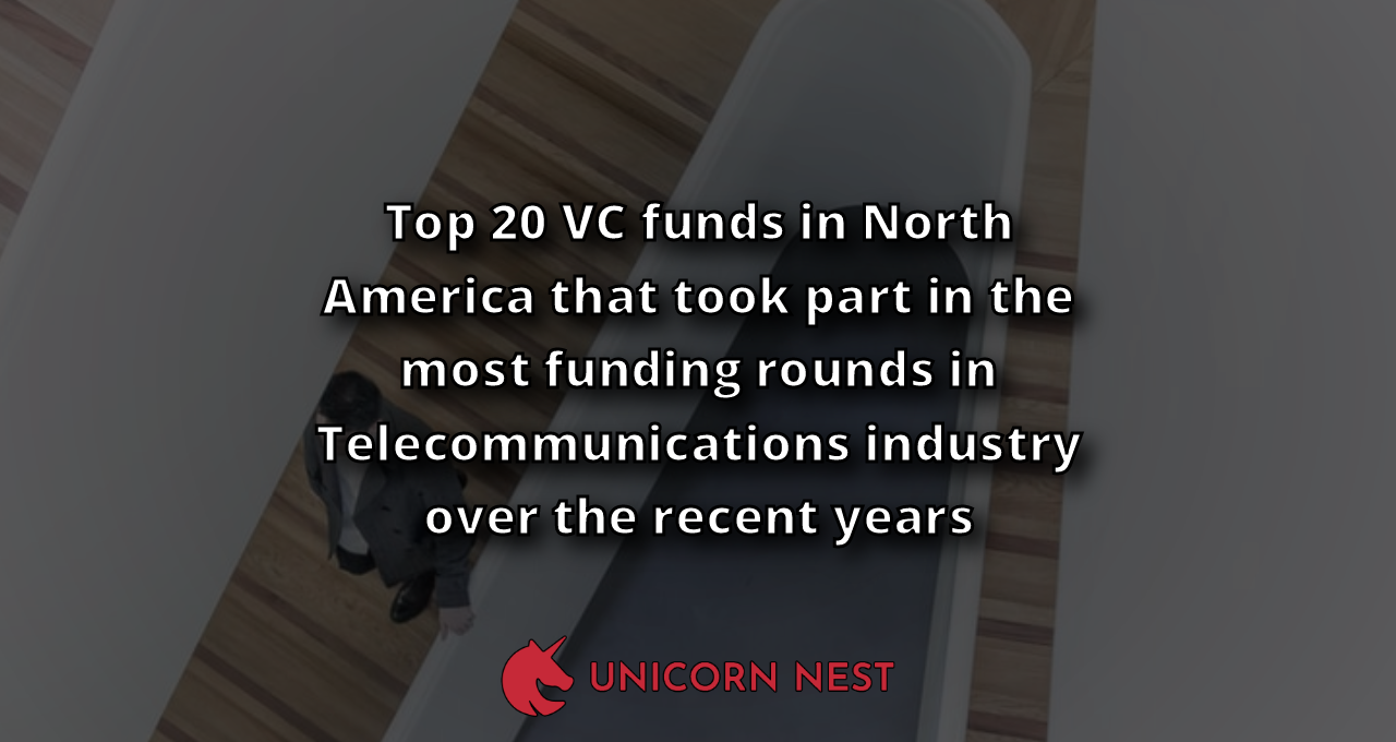 Top 20 VC funds in North America that took part in the most funding rounds in Telecommunications industry over the recent years