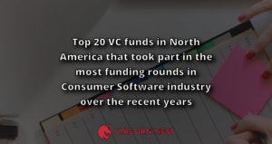 Top 20 VC funds in North America that took part in the most funding rounds in Consumer Software industry over the recent years