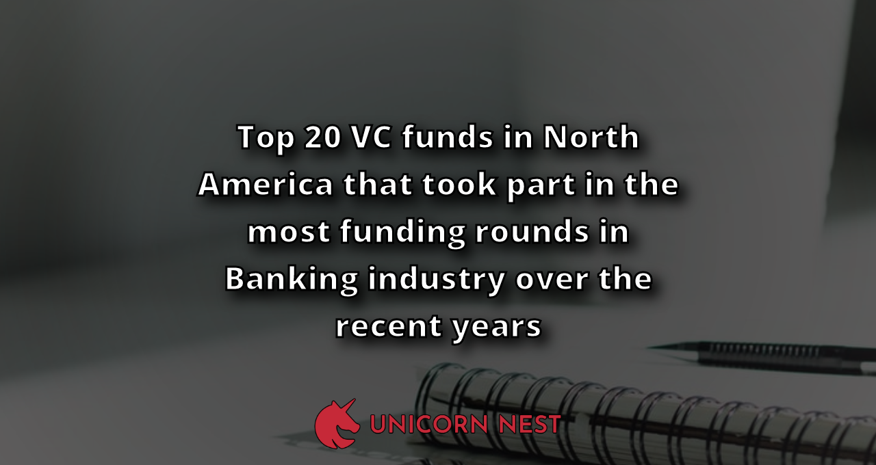 Top 20 VC funds in North America that took part in the most funding rounds in Banking industry over the recent years