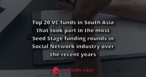 Top 20 VC funds in South Asia that took part in the most Seed Stage funding rounds in Social Network industry over the recent years