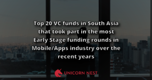 Top 20 VC funds in South Asia that took part in the most Early Stage funding rounds in Mobile/Apps industry over the recent years