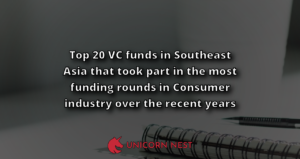 Top 20 VC funds in Southeast Asia that took part in the most funding rounds in Consumer industry over the recent years