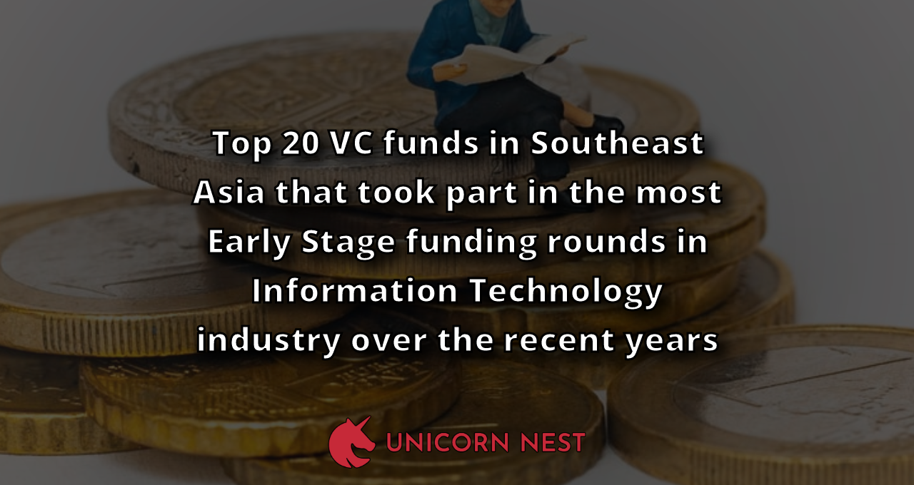 Top 20 VC funds in Southeast Asia that took part in the most Early Stage funding rounds in Information Technology industry over the recent years