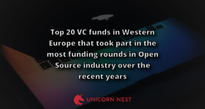 Top 20 VC funds in Western Europe that took part in the most funding rounds in Open Source industry over the recent years