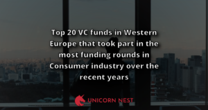 Top 20 VC funds in Western Europe that took part in the most funding rounds in Consumer industry over the recent years