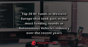 Top 20 VC funds in Western Europe that took part in the most funding rounds in Autonomous Vehicles industry over the recent years