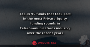 Top 20 VC funds that took part in the most Private Equity funding rounds in Telecommunications industry over the recent years