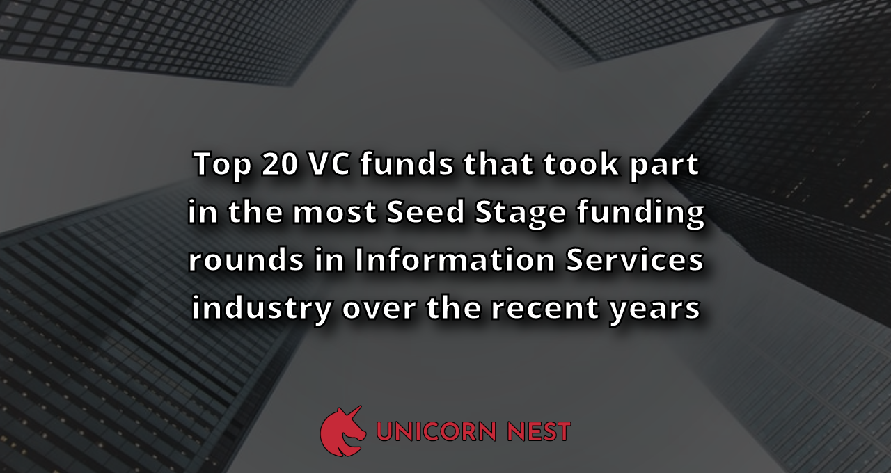 Top 20 VC funds that took part in the most Seed Stage funding rounds in Information Services industry over the recent years