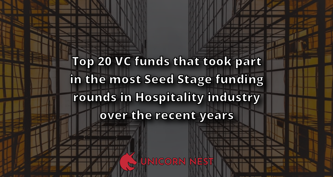 Top 20 VC funds that took part in the most Seed Stage funding rounds in Hospitality industry over the recent years