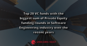 Top 20 VC funds with the biggest sum of Private Equity funding rounds in Software Engineering industry over the recent years