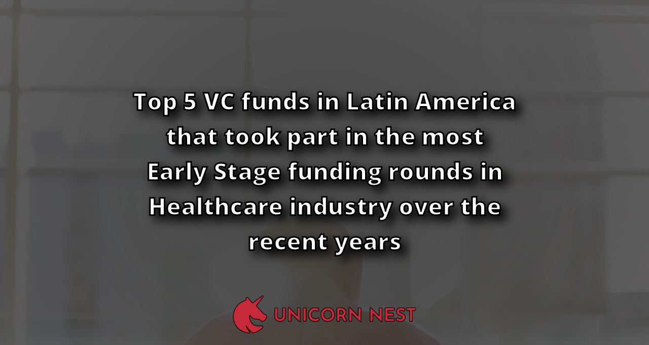 Top 5 VC funds in Latin America that took part in the most Early Stage funding rounds in Healthcare industry over the recent years