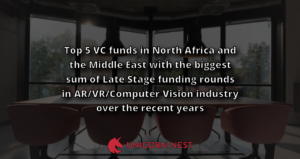 Top 5 VC funds in North Africa and the Middle East with the biggest sum of Late Stage funding rounds in AR/VR/Computer Vision industry over the recent years
