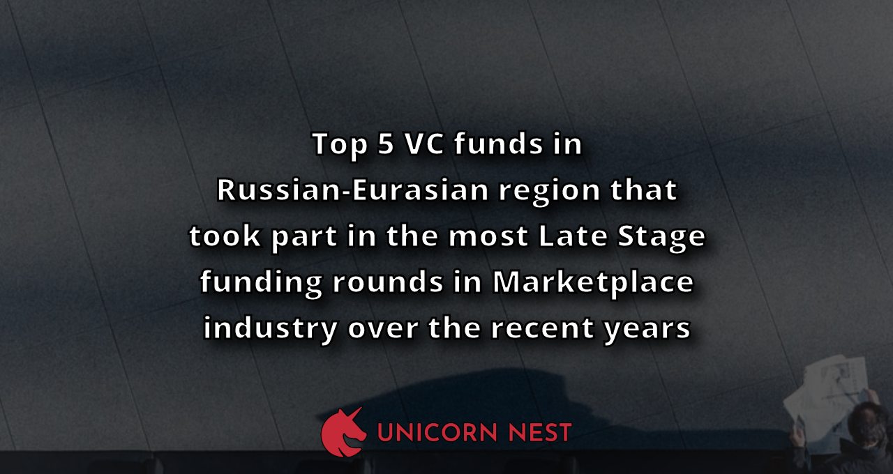 Top 5 VC funds in Russian-Eurasian region that took part in the most Late Stage funding rounds in Marketplace industry over the recent years