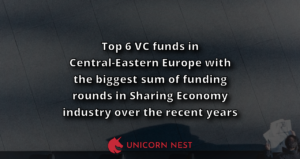 Top 6 VC funds in Central-Eastern Europe with the biggest sum of funding rounds in Sharing Economy industry over the recent years