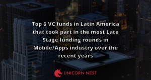 Top 6 VC funds in Latin America that took part in the most Late Stage funding rounds in Mobile/Apps industry over the recent years