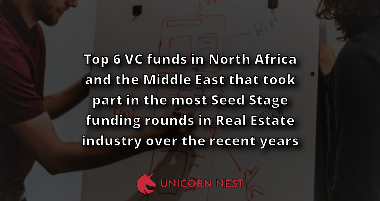 Top 6 VC funds in North Africa and the Middle East that took part in the most Seed Stage funding rounds in Real Estate industry over the recent years