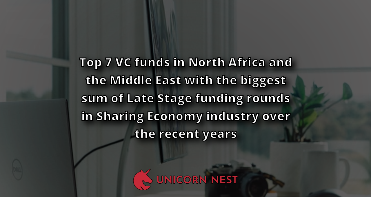 Top 7 VC funds in North Africa and the Middle East with the biggest sum of Late Stage funding rounds in Sharing Economy industry over the recent years