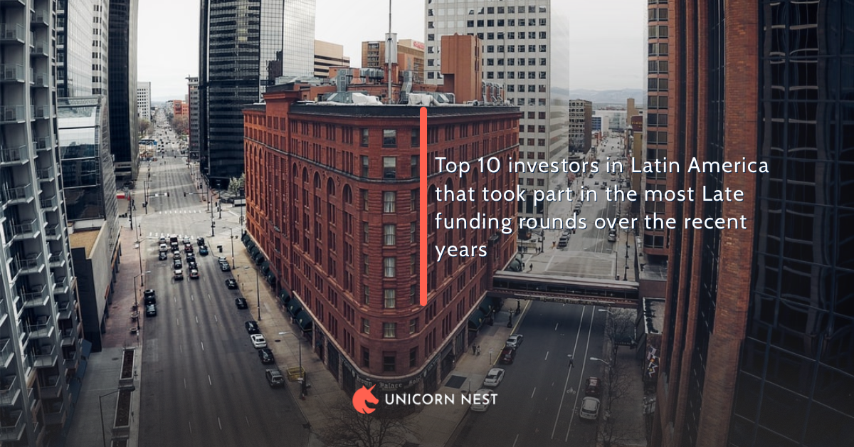 Top 10 investors in Latin America that took part in the most Late funding rounds over the recent years
