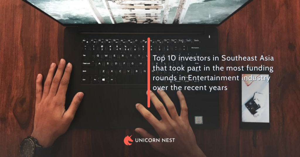 Top 10 investors in Southeast Asia that took part in the most funding rounds in Entertainment industry over the recent years