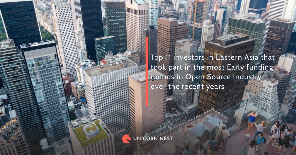 Top 11 investors in Eastern Asia that took part in the most Early funding rounds in Open Source industry over the recent years
