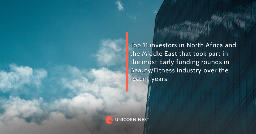 Top 11 investors in North Africa and the Middle East that took part in the most Early funding rounds in Beauty/Fitness industry over the recent years
