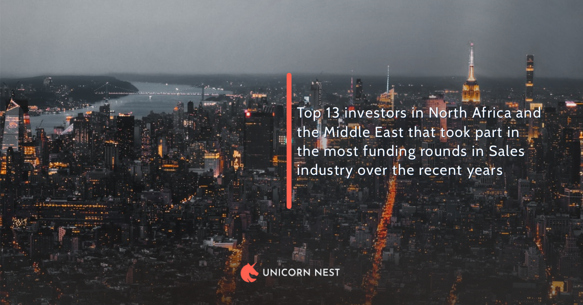 Top 13 investors in North Africa and the Middle East that took part in the most funding rounds in Sales industry over the recent years